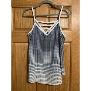 Pixley Blue and white tank top